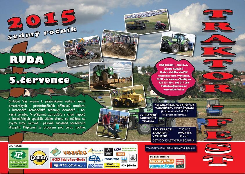 traktorfest 2015 obec ruda a m237stn237 �225st lhotka